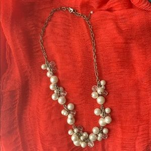 """9.5""""L White Beaded Necklace"""